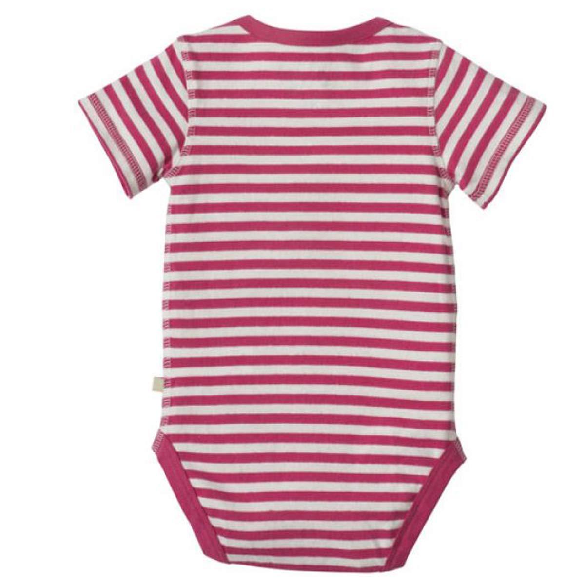 Frugi Baby Girls Bodysuit Berry
