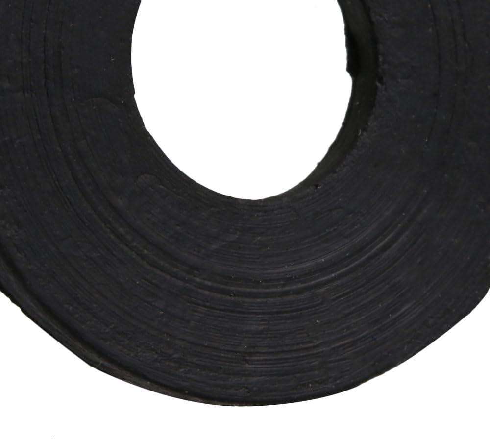 25x12x2mm Negro Caucho Forma redonda Juntas Arandela de goma plana Anillos de sellado para el sistema de plomer/ía automotriz de 50