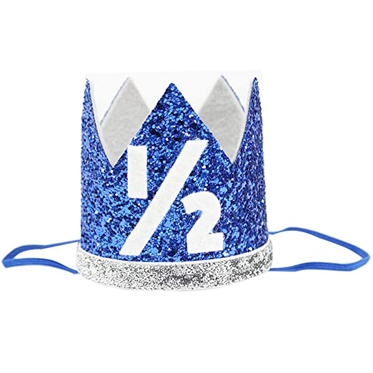 Amazon Half Baby Boy Birthday Crown Headband 1 2 Prince Party