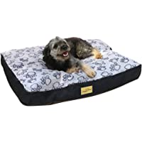 Bingopaw Waterproof Dog Bed Mattress, Filled Cotton Ped Bed Dog Mat Bed with Zipper Closing Washable Cover for Small…