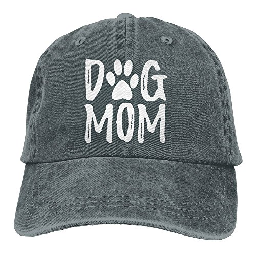 Unisex Dog Mom Vintage Jeans Adjustable Baseball Cap Cotton Denim Dad ()