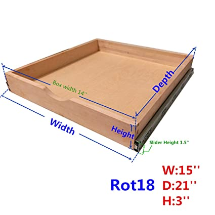 Amazon Com Cabinet Roll Out Trays Wood Pull Out Tray Drawer Boxes