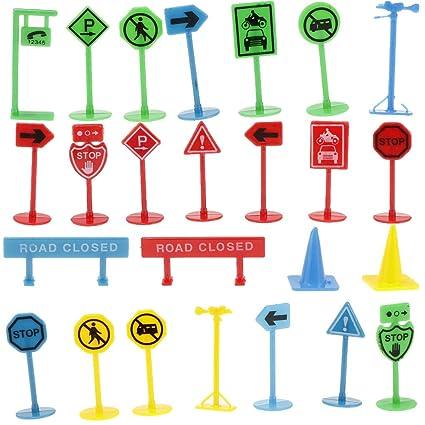 Juguete Unidades Tráfico Kesoto Vehículos Señales 27 De TJcFK3l1