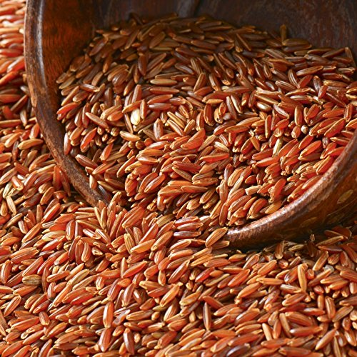 Organic Thai Red Jasmine Rice Unpolished Long Whole Grain Brown Non GMO Gluten Free from Thailand 1 Lb (16 oz)