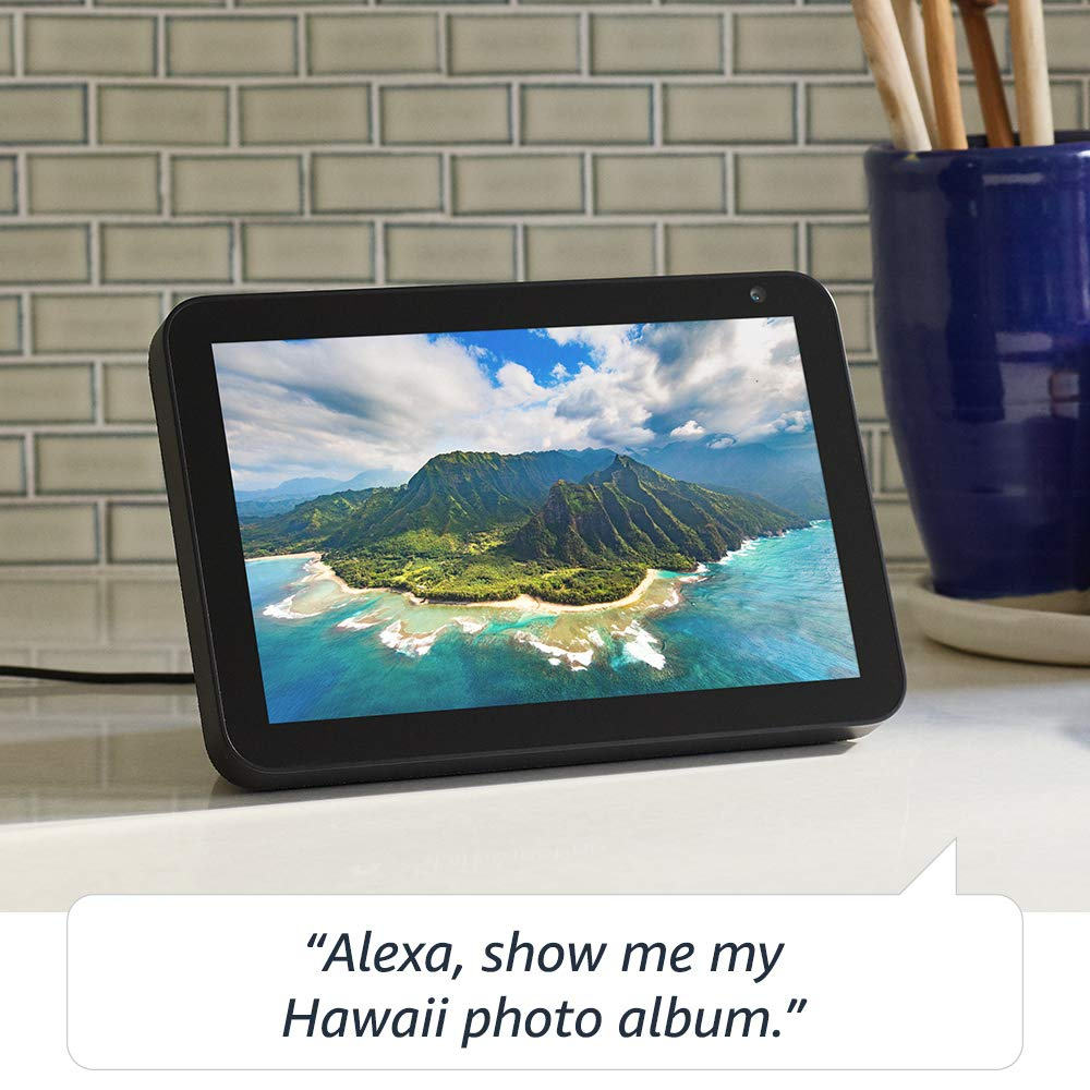 Echo Show 8  HD smart display with Alexa  stay connected with video calling  Charcoal