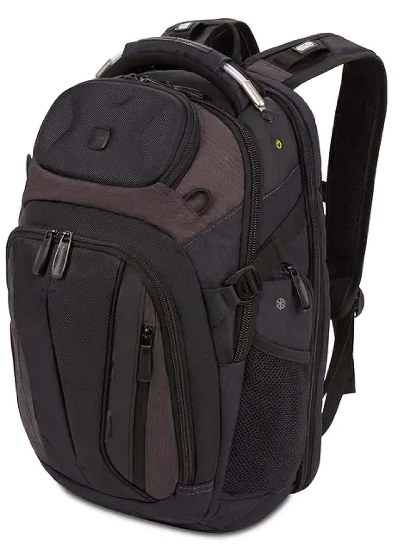 SWISSGEAR SCANSMART TSA School Work and Travel Men s and Women s Laptop Backpack – Black and Heather Gray
