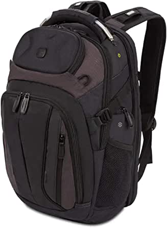 SWISSGEAR SCANSMART TSA School Work and Travel Men's and Women's/Laptop Backpack - Black and Heather Gray