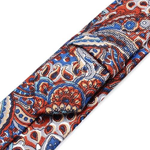 Two Neckties - SHIJING Inch Slim Men Ties New Gravata Paisley Necktie for Men Wedding Party Polyester Neck Ties,2
