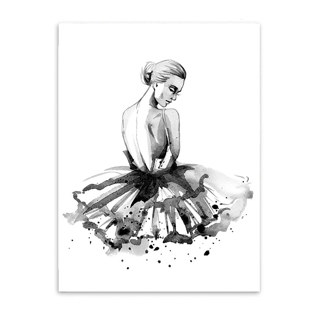 Tangbasi® Ballet Girl Modern Wall Art Canvas Wall Decorative Painting for Home Decor