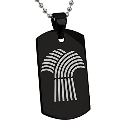 Black Stainless Steel Demeter Greek Goddess Of Agriculture Symbol