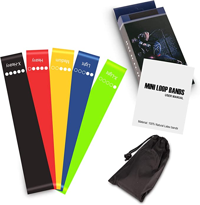 Shinemefly Resistance Bands Set Exercise Loops with Non-Slip Design for Hips /& Glutes Workout Bands Booty Bands With 3 Resistance Levels Fabric Fitness Loop Bands for Pilates Yoga and Body Building
