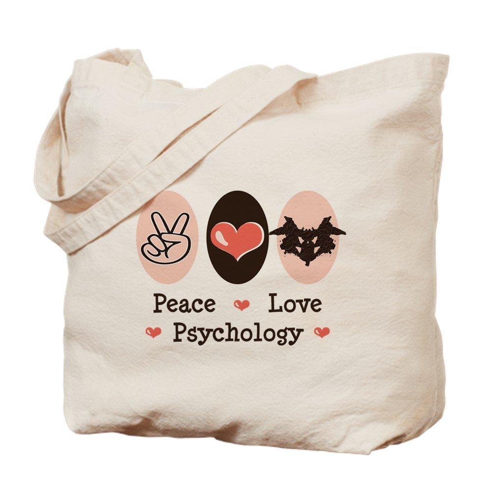 CafePress – Peace Love Psychology – ナチュラルキャンバストートバッグ、布ショッピングバッグ B00WJEI15Q