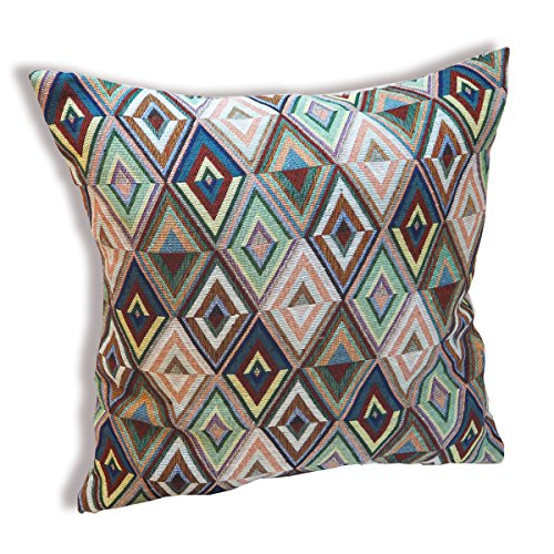 tamarind-bay-18-in-luxury-tapestry-throw-pillow-cushion-cover-with-native-american-inspired-pattern