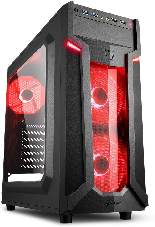 Sharkoon VG6-W - Caja de Ordenador, PC Gaming, Semitorre ATX ...