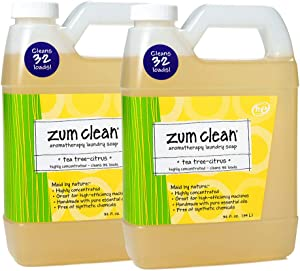 Indigo Wild Zum Clean Laundry Soap, Tea-Tree Citrus, 32 Fluid Ounce, Set of 2