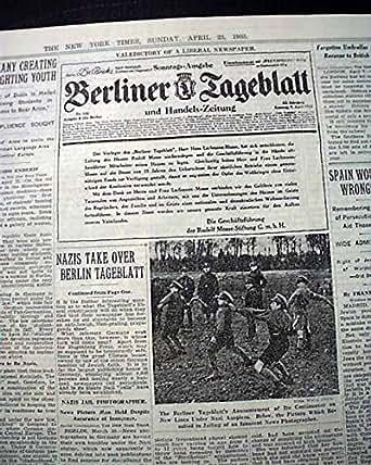 Amazon.com: BERLINER TAGEBLATT Berlin Germany Liberal ...