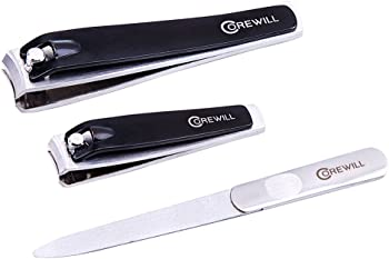 Corewill 3-Pc. Nail Clippers 3-in-1 Manicure & Pedicure Set