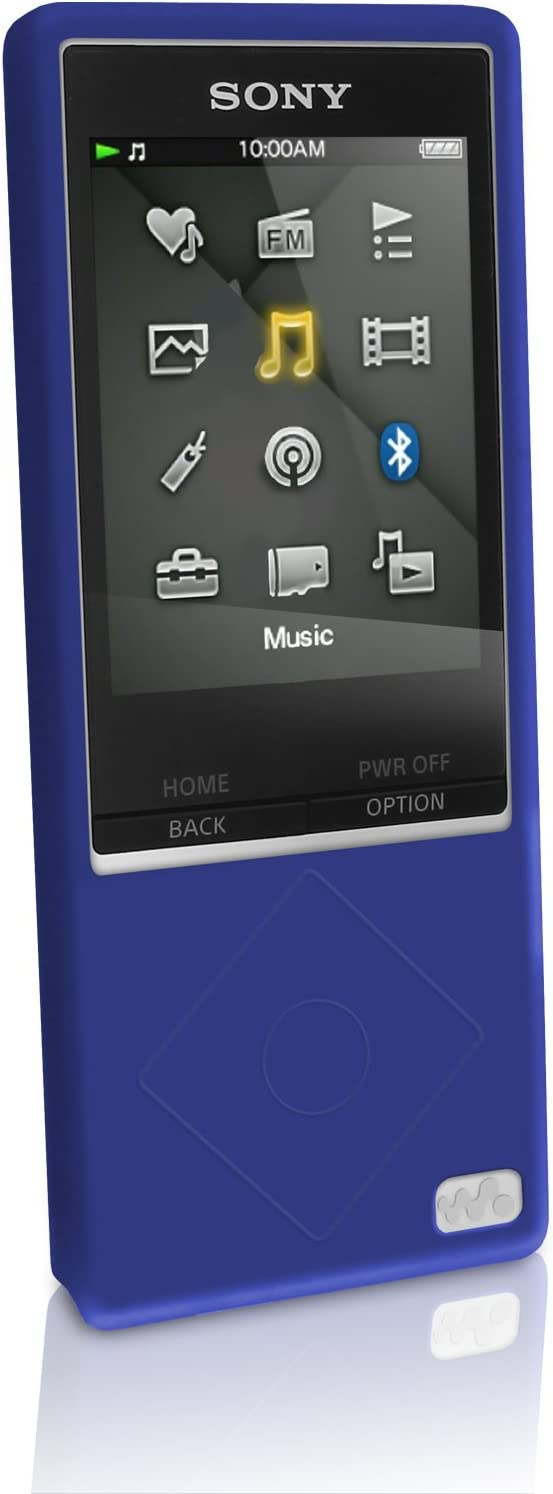 Igadgitz U3296 Silikon Schutzhülle Case Und Displayschutzfolie Kompatibel Mit Sony Walkman Nwz A15 Und Nwz A17 8gb 16gb Blau Elektronik