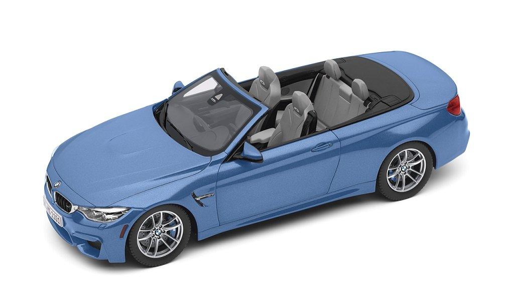 BMW M4 Cabrio (F83) modèle voiture/Miniature Échelle 1: 18 YAS MARINA BLEU