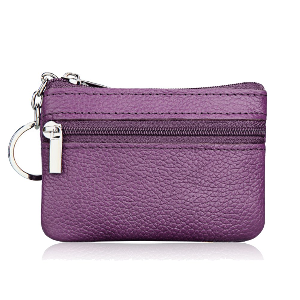 Fashion Story Men Women Card Change Key Holder Wallet Coin Purse Zip 10.57.5cm (Purple)
