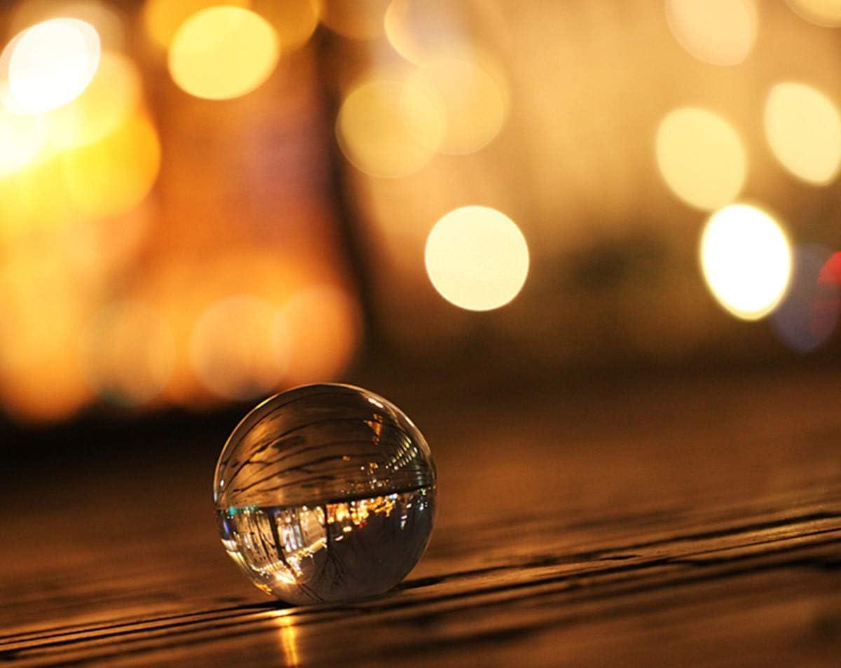 70Mm Ensemble Boule De Cristal Photographie K9 Verre Suncatcher Ball Avec Pochette Ornements D/éCoratifs Et Stand
