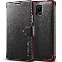 Galaxy Note 4 Case, Verus [Special Edition] Samsung Galaxy Note 4 Wallet Case [Layered Dandy Diary][Black]