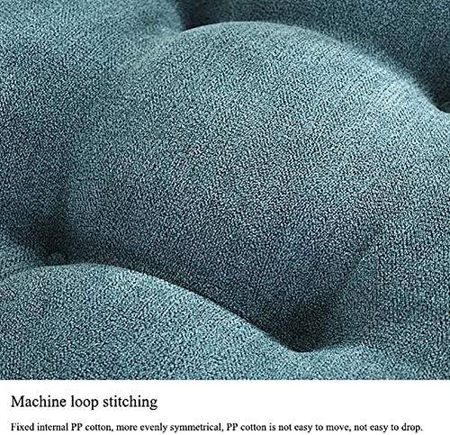 ホームオフィスガーデン45 * 45 * 10 cm用ダブルタイロープ付きスクエアシートパッドクッション高さブーストマット,ブラウン