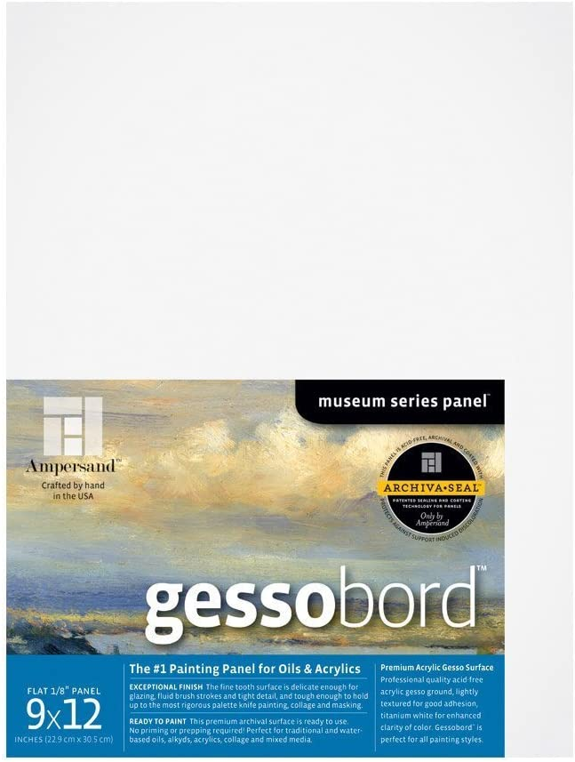 GBSC18 18X24 Inch Ampersand Gessobord for Acrylic Oil and Mixed Media 3//4 Inch Depth Cradle