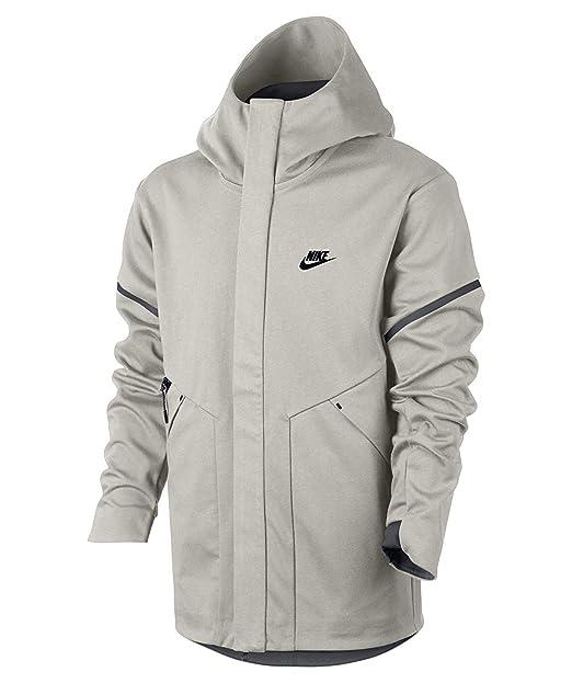 70ad4bd96e2b NIKE Sportswear TECH Fleece Repel Windrunner (Light Bone Carbon  Heather Black