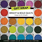 "Bright & Bold Quilts Gift Wrap: 4 Patterns, 12 Sheets―20"" × 30"" for a total of 50 sq. ft. + 12  Gift  Tags"