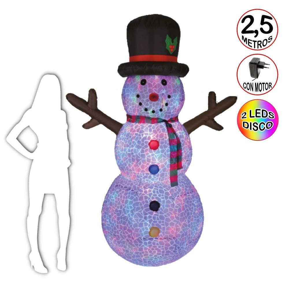 La Vida en Led Snowman - Muñeco de Nieve 2,5 Metros Luminoso Auto ...