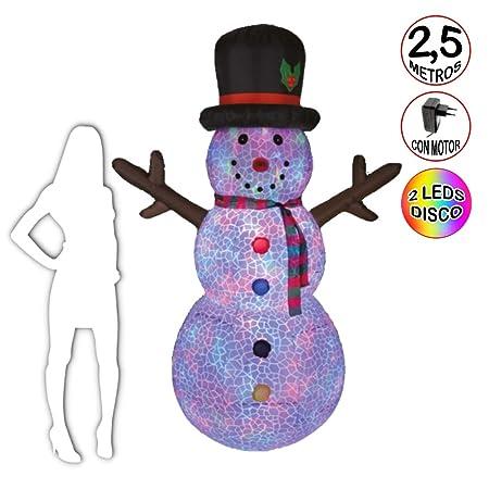 La Vida en Led Snowman - Muñeco de Nieve 2,5 Metros Luminoso ...