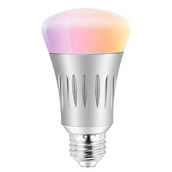 Bombilla LED RGB (que significa que contiene diodos de luz rojo, verde y azul) Bombilla inteligente, funciona con wifi ...