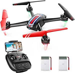 SNAPTAIN SP660 FPV RC Drone with Camera, 720P HD WiFi Live Video Quadcopter w/Long Flight Time, Voice Control, Gesture Control, APP Support, Trajectory Flight, G-Sensor Mode, Altitude Hold