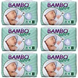 Bambo Nature Premium Baby Diapers, Newborn, Size 1, 28 Count (Pack of 6)