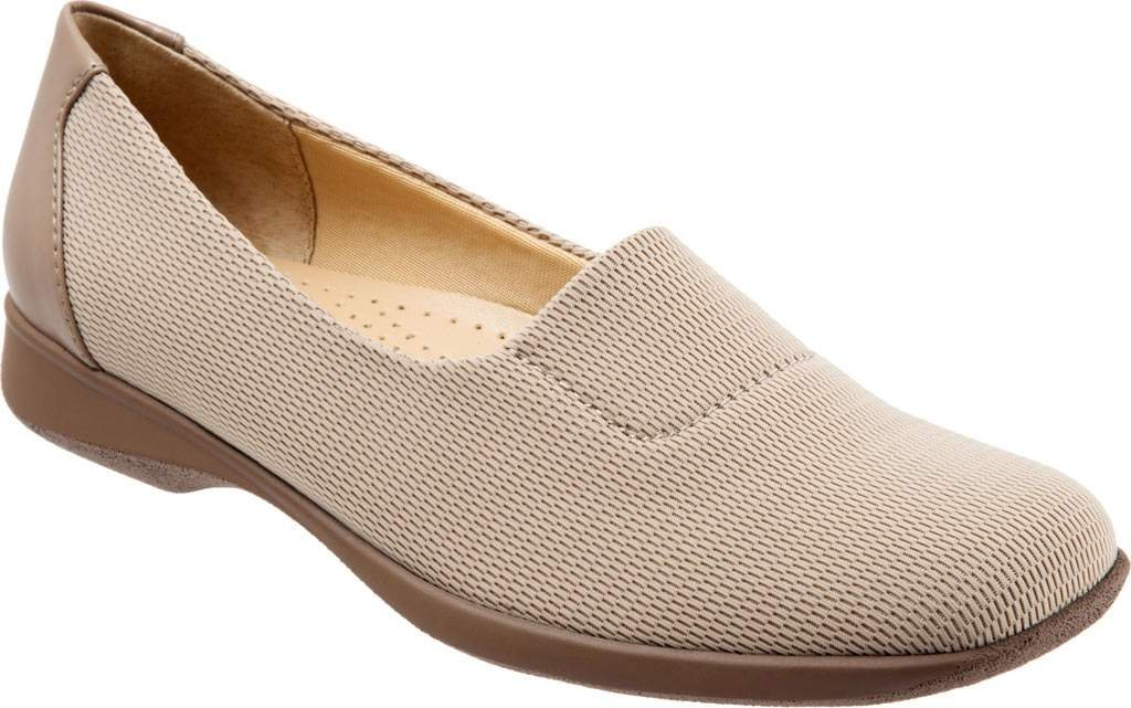 Trotters Women's Jake Flat B01HIS83LY 10 E US|Nude Combo Stretch Fabric