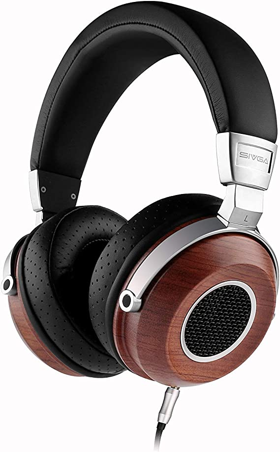 SIVGA SV004 Hi-Fi Wood Over-Ear Stereo Open Back Wired Headphones