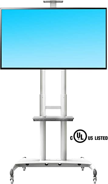 North Bayou Ava1500/ LED y Plasma Pantallas de Panel Plano Pantallas y 32/A 65/Pulgadas hasta 100LBS /1P Universal Mobile TV Carrito Soporte de TV con Soporte para LCD Negro, 1/Estante /60/