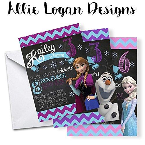 Disney's Frozen (Inspired) Birthday Invitation - Choose Your Favorite -