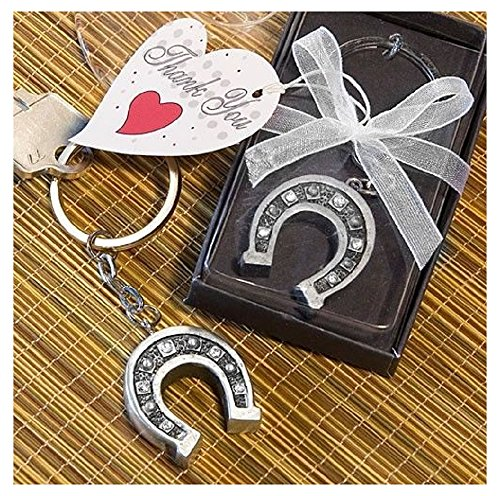 Horseshoe Key Chain Favor Wedding Bridal Shower Party (Horse Wedding Favors)