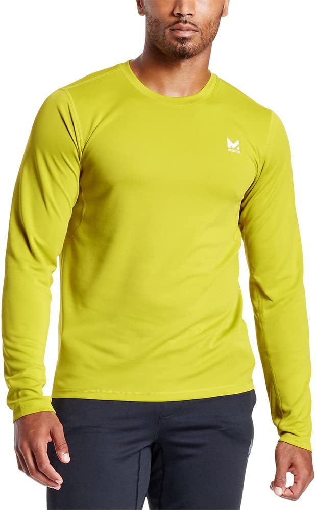 Mission Mens VaporActive Alpha Long Sleeve Athletic Shirt