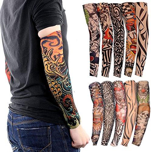Ezyoutdoor Tattoo Arm Sleeves Cool Body Arts Fake Tempora...