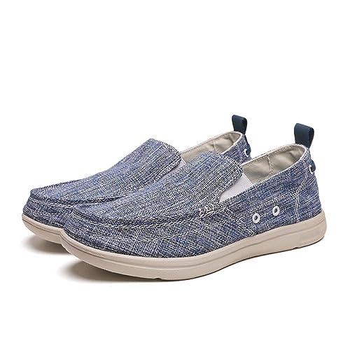 Zapatillas sin Cordones Transpirables para Hombres Alpargatas sin Mangas con Suelas Antideslizantes Ocasionales U-Tip: Amazon.es: Zapatos y complementos
