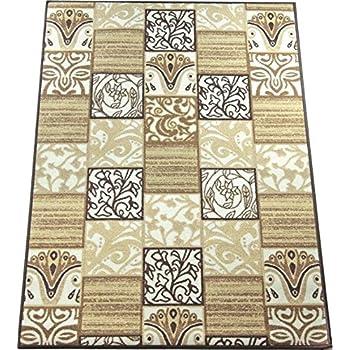 Amazon Com Lexington Home Brown Floral Tile Design Non