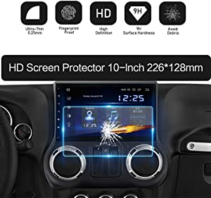 Dasaita 10 inch Large Screen 226X128mm Tempered Glass Screen Protector Display Monitor Glass Film for 2 DIN Car DVD GPS Head Unit Global Navigation System