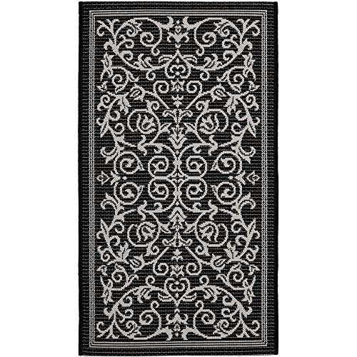 Safavieh Courtyard Collection CY2098-3908 Black and Sand Indoor/ Outdoor Area Rug (2' x 3'7