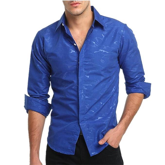 e8427b706a80 Longra Herren Casual Slim Fit Camouflage Prin Langarm T-Shirt Super Modern  Super Qualität Hemdbluse Freizeithemd Herrenhemden Businesshemd  Langarmshirt ...