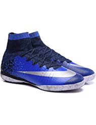 New Style Mens Mercurial Superfly CR IC Blue High Top Football Shoes Soccer Boots