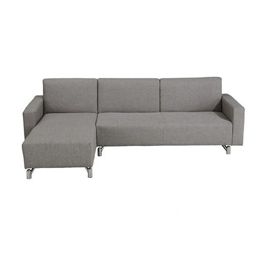 Sofá cama Splinter con chaise longue revestido de tela ...