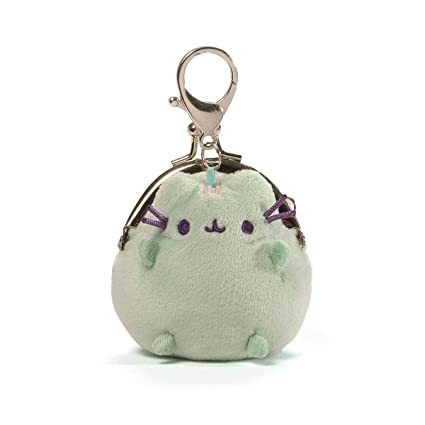 2b6cb5de9e2 Gund Pusheen the Cat Mini Plush Coin Purse Pastel Green